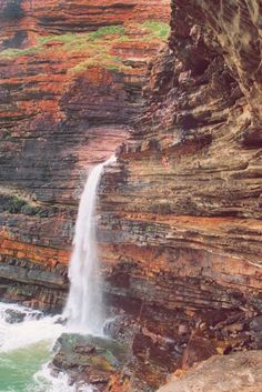 Transkei, where many waterfalls plunge into the ocean. South Africa