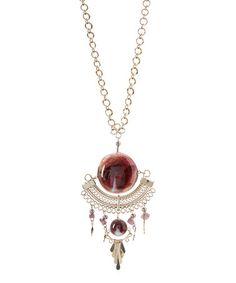 Look what I found on #zulily! Purple Twilight Grace Necklace #zulilyfinds