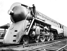 Famous Hudson Locomotive that served the NE in the departs from Grand Central Station in New York City Pottery Barn The New York Times Archive - Locomotive Art Deco, Art Nouveau, New York Central Railroad, Old Trains, Vintage Trains, Vintage Cars, Railroad History, Train Art, Train Engines