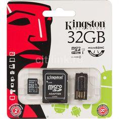 Kingston microSDHC Mobility Kit 32GB inkl. Adapter & USB Reader Kingston Technology, Usb, Cards