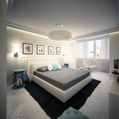 Appartment /Izumrudniy/ by KO+KO architects , via Behance Home Decor Inspiration, Decoration, Master Suite, Living Spaces, Behance, Interior Design, Bedroom, Architecture, Dream Big