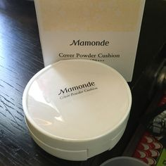 Mamonde Cushion Foundation Cover powder cushion in #21. Comes with box, empty case, and 1 refill. Semi-matte finish. Date on Korean makeup packaging is production date, not exp date.  Look up reviews before purchasing to make sure this color matches you. Mamonde Makeup Foundation