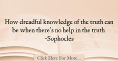 Sophocles Quotes About Knowledge - 39256