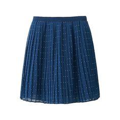 WOMEN Chiffon Pleated Print Mini Skirt-UNIQLOUKOnlinefashionstore