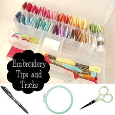 My Cotton Creations: Hand Embroidery Tips- lol the drill is a little over the top but I organize my threads this way too. Instead of the ring I have a mini organizer box for my WIP