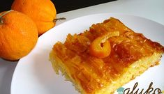 Greek Traditional Sweet!  Portokalopita or Syrupy Orange Pie!