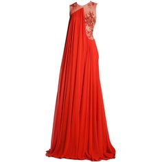 basil soda edited by metalheavy ❤ liked on Polyvore featuring dresses, gowns, long dresses, red, red gown, red dress, red evening dresses and long red dress