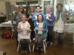 Nov 2012, What a great way to spend the day!  A great group of ladies painting with Chalk Paint, decorative paint by Annie Sloan.