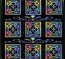 Funkadelic snowflake Art by Mo 2014 by Maureen Zaharie