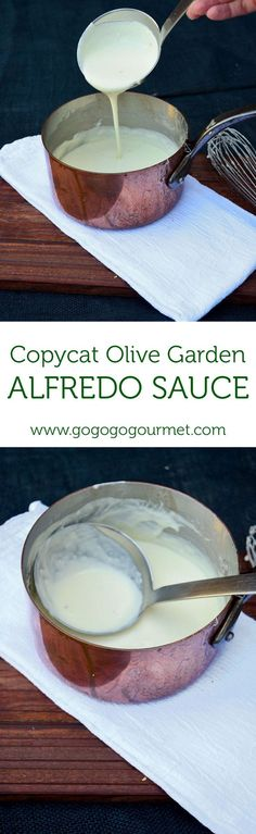 This Copycat Olive Garden Alfredo Sauce is out of this wold good!   Go Go Go Gourmet @gogogogourmet #pasta #alfredo #OliveGarden #easydinner
