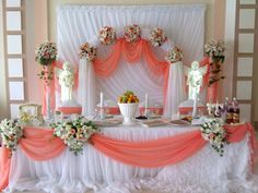 Discover thousands of images about Viktoria Kazantseva Backdrop Design, Backdrop Decorations, Reception Decorations, Event Decor, Wedding Stage, Diy Wedding, Ganapati Decoration, Head Tables, Bridal Table