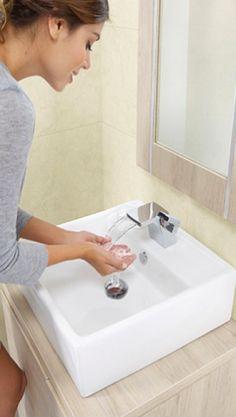 Lavamanos con #diseños innovadores para darle más estilo a tu #baño. #Corona inspira.