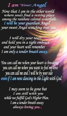 Such a beautiful message about those that we love, who have passed on, now being our angels.  Their spirit is never far from you. by tania.trickovic