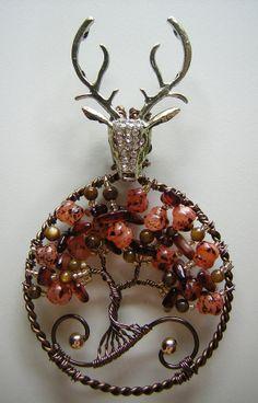 House Baratheon inspired tree of life pendant