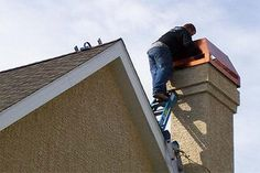 Each spring, make sure your chimney cap hasn't collapsed and is not obstructing the flue opening. #springcleaning