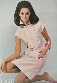 Maggie Eckhardt, Vogue Australia Sept 1966.  Wearing Nina Ricci.  Image by Maurice Mead