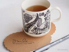 Tea time • Tee energiaa • Smiles are delightful little things.