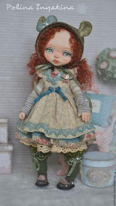 Купить I love Bear - кремовый, кукла ручной работы, кукла, кукла интерьерная