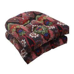 Shop for Pillow Perfect Outdoor Marapi Wicker Seat Cushions (Set of 2). Free Shipping on orders over $45 at Overstock.com - Your Online Garden