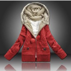 Aliexpress.com : Buy 30% OFF SALE Free shipping 2013 new women's fashion winter thick hooded knitwear cardigans sweaters coat One size Red Blue WC100 from Reliable women's cardigans suppliers on Sophia apparel (China) Co., Ltd. More quantity more discount!