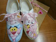 ZapateArte: Zapatillas pantera rosa / zapatillas pintadas a ma...