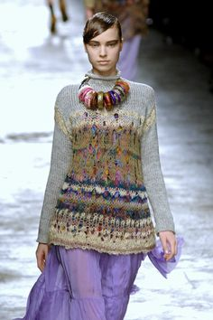 Dries Van Noten Fall 2008 - beautiful knitting