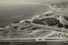 Malaga Cove plaza being built in Palos Verdes California.