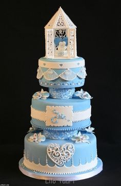 Wedding Cake for contest By lilo_taart on CakeCentral.com