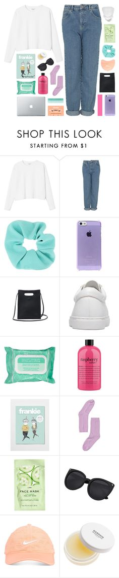"""""""-- separate sidewalks underneath our feet"""" by feels-like-snow-in-september ❤ liked on Polyvore featuring Monki, Topshop, Ole Henriksen, philosophy, H&M, Nike Golf, Darphin, melsunicorns and gottatagrandomn3ss"""