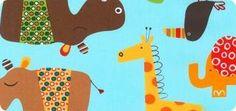 Jungle Creatures Slicker by Amy Schimler-Safford: Laminated Cotton Fabric: Robert Kaufman Fabric Company.