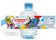 Thomas the Train Water Bottle Label/Wrappers by CandyBarBoutique