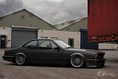 BMW E24 6 series grey slammed