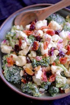 Clean Eating Broccoli Cauliflower Salad