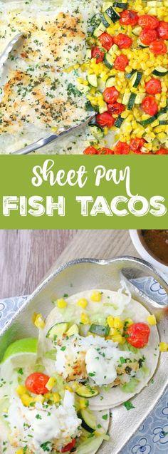 Sheet Pan Fish Tacos