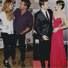 Shailene & Theo, then and now. The way Theo looks at her ❤