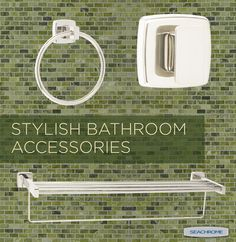 Seachrome's 15000 Series - Stainless bath accessories provide style and elegance to all commercial and hospitality projects. Bathroom Accessories, Hospitality, Commercial, Projects, Style, Log Projects, Bathroom Fixtures