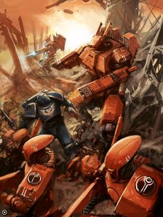 Tau killing Space Marines <3 #Tau #40k