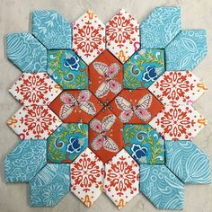 Lucy Boston / Coco Butterfly 1   quilt kit makes 4-6 blocks