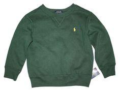NWT Ralph Lauren Boys Crew Neck Fleece Sweatshirt Size 3T #RalphLauren #Pullover