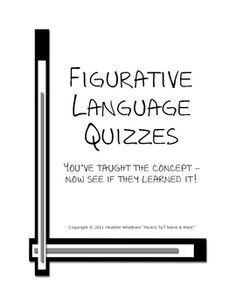 FREE worksheets to assess figurative language