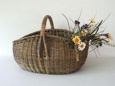 Large Woven Vintage Basket