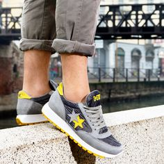 Shine like a #star 2star.it #2starcollection #2starlifestyle #2star #new #Spring #Summer #collection #low #sneaker #sneakers #gray #yellow #details #sparkling #man #boy #shoe #shoes #fashion #glamorous #style #picoftheday #insatcool