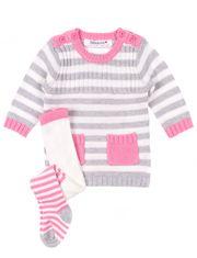 Robe de tricot et collants pour bébé fille Babaluno