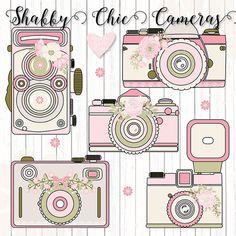 Premium Camera flower Rustic cameras clipart by designloverstudio