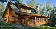 Painstakingly Handcrafted by Master Craftsman, This Log House Is in a League of Its Own
