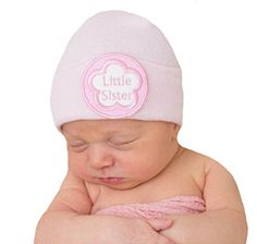 Melondipity's Little Sister Newborn Girl Pink Hospital Hat Melondipity Baby Hats http://www.amazon.com/dp/B00KBZ6I00/ref=cm_sw_r_pi_dp_2.ZSub0A75PPK