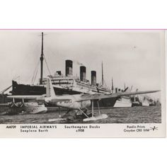 Imperial Airways Seaplane Berth & Berengaria Pamlin postcard AM739 Listing in the Air,Transportation,Postcards,Collectables Category on eBid United Kingdom | 147951398