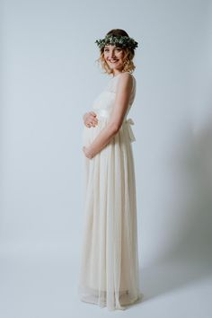 "Flor-Length Wedding Dress ""Blossom Baby"" - Ave-evA - Suknie ślubne"