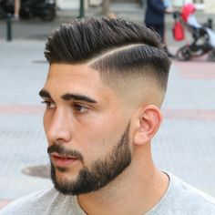 Men's Hairpiece Human Hair Toupee Wig Super Thin Skin Hair Replacement ( Off Black) Clean Cut Haircut, Mid Fade Haircut, Comb Over Haircut, Haircut Men, Young Mens Hairstyles, Hairstyles Haircuts, Haircuts For Men, Cool Hairstyles, Mens Hairstyles 2018 Short