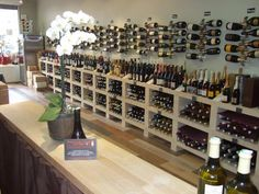 A very nice display of flow in a wine shop (Bottle Display Restaurant)